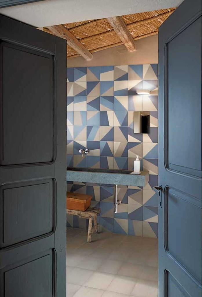 Atelier lo stile firmato bardelli di giacomo pavimenti sas - Piastrelle geometriche cucina ...