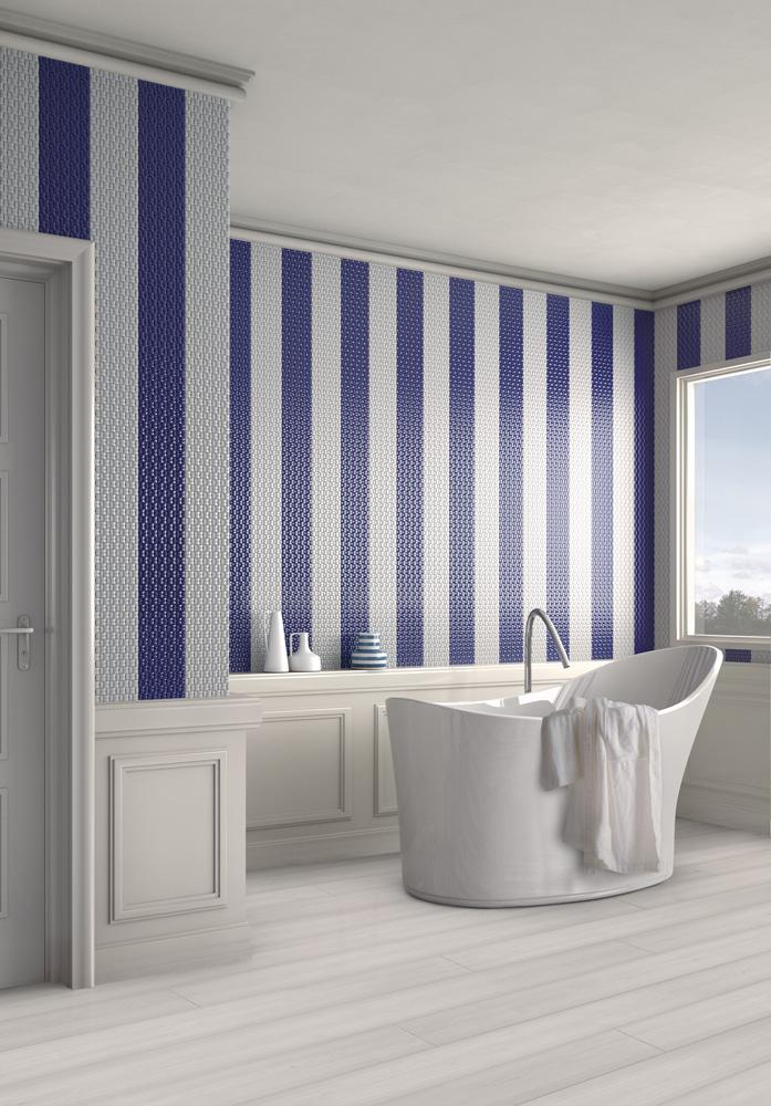 Realizzare un bagno blu di giacomo pavimenti sas - Mosaico blu bagno ...