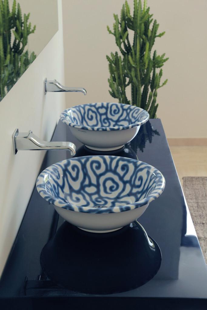 lavabo blu flaminia - Di Giacomo Pavimenti