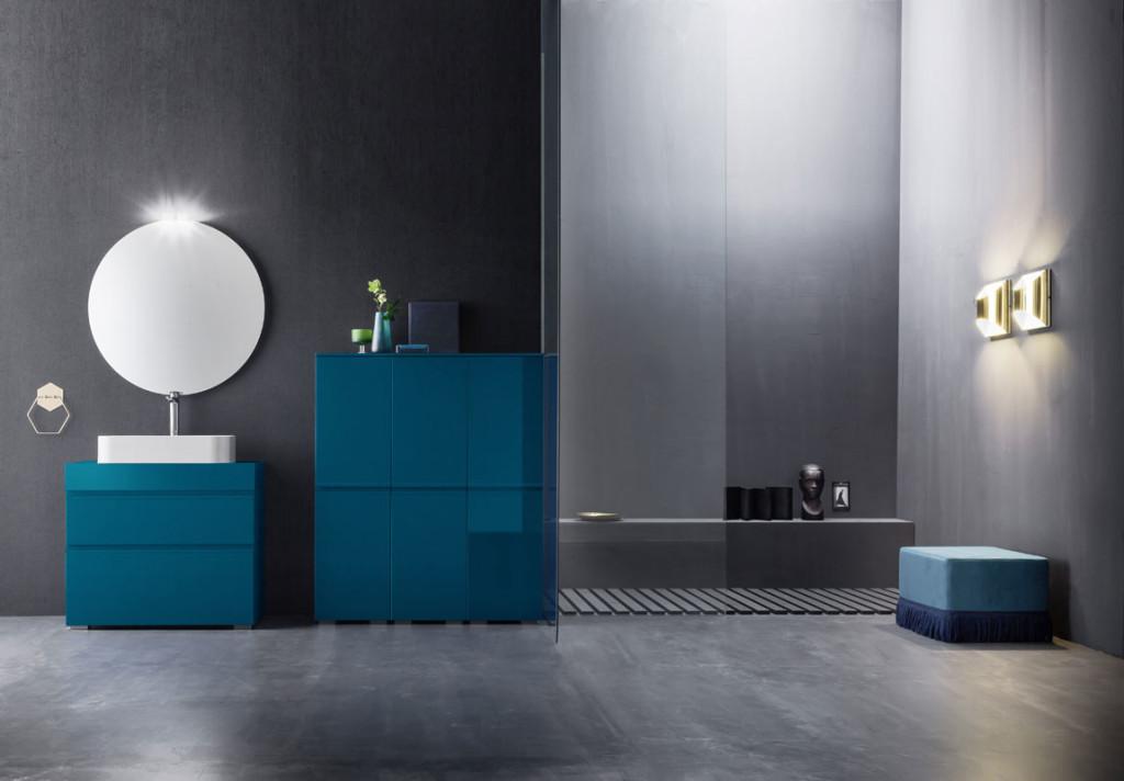 Realizzare un bagno blu di giacomo pavimenti for Mobile bagno blu