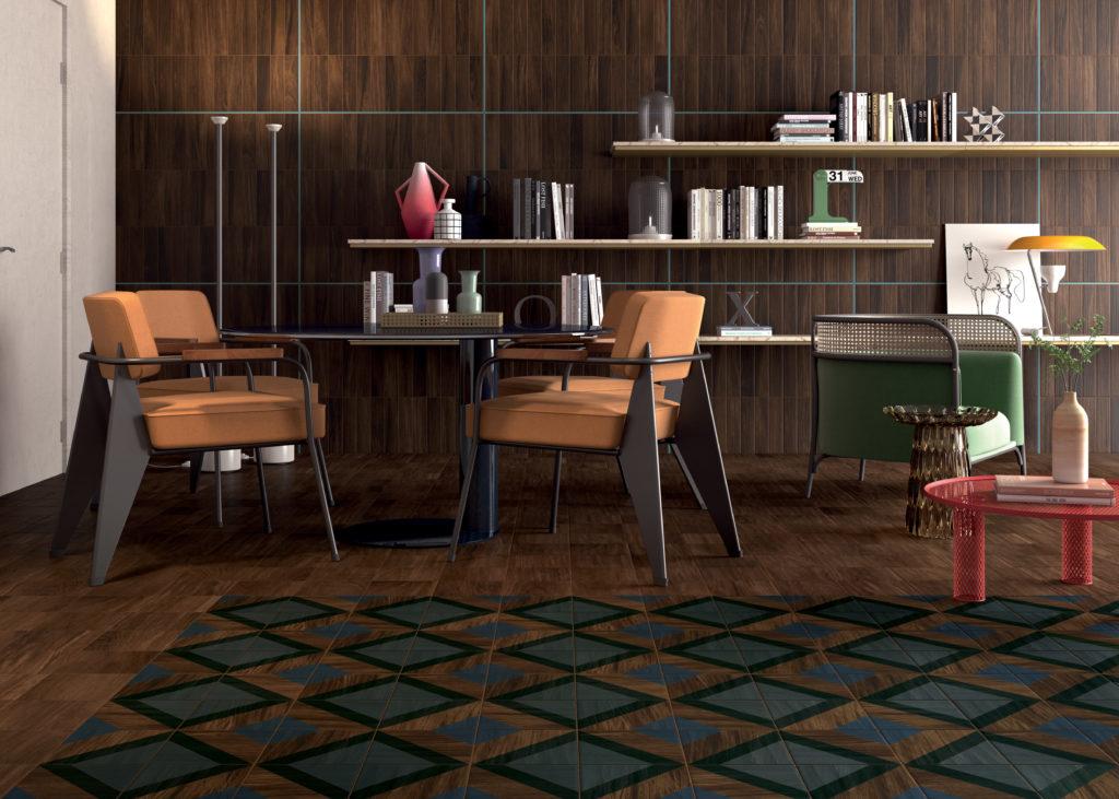 Il gres porcellanato effetto legno per una casa dallo for Nicchie nelle pareti