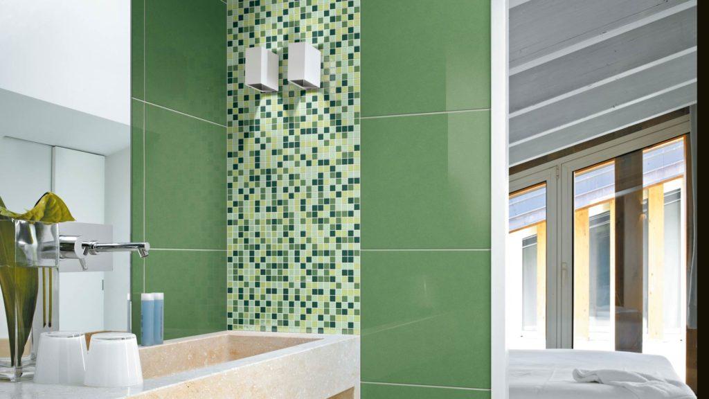 Realizzare un bagno verde e lasciarsi ispirare dal colore pantone dell 39 anno - Piastrelle disegnate ...