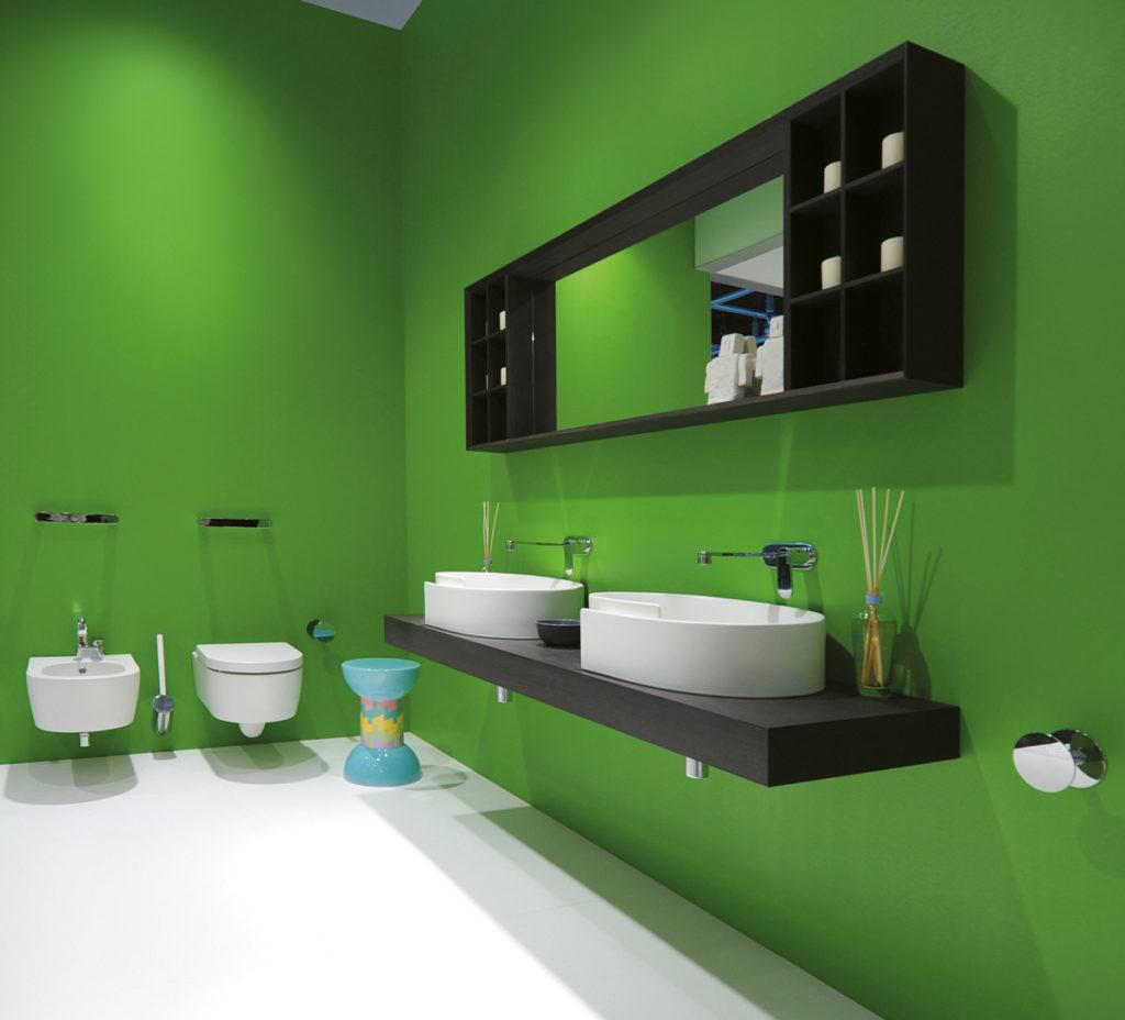 ceramica flaminia verde - Di Giacomo Pavimenti