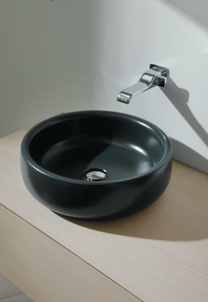 Bagno scuro lavabo - Di Giacomo Pavimenti