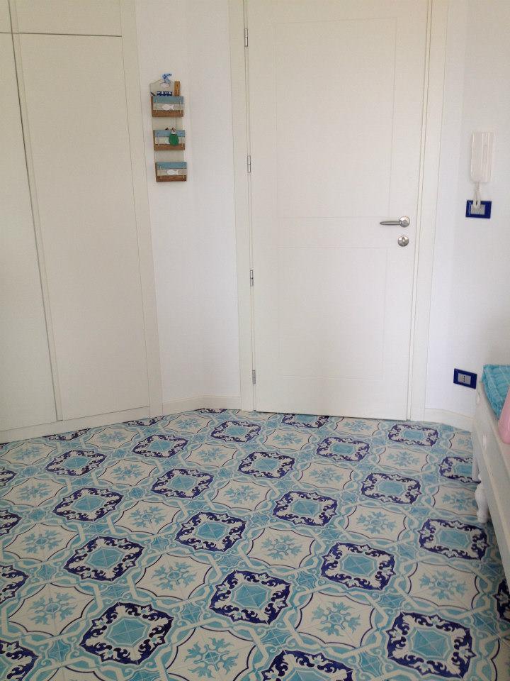 Ritornano i pavimenti decorati di giacomo pavimenti - Piastrelle decorate per pavimenti ...